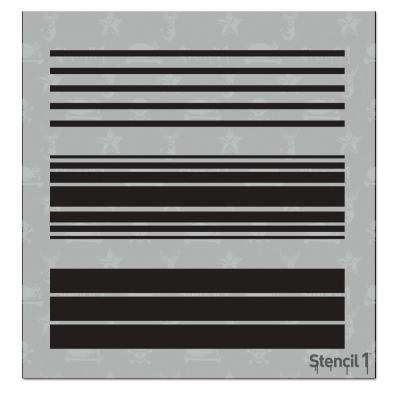 Various Stripes Small Repeat Pattern Stencil