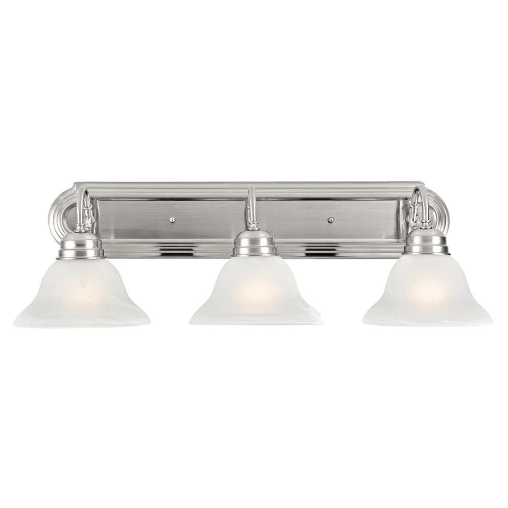 Millbridge 3-Light Satin Nickel Vanity Light