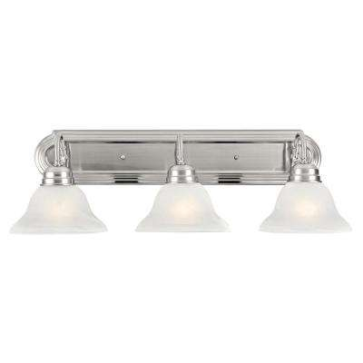 Millbridge 3-Light Satin Nickel Vanity Light