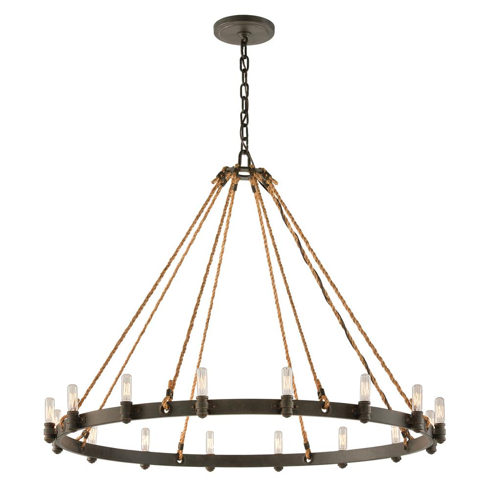 Round bronze chandelier chandelier designs troy lighting pike place 16 light shipyard bronze pendant f3127 arubaitofo Choice Image