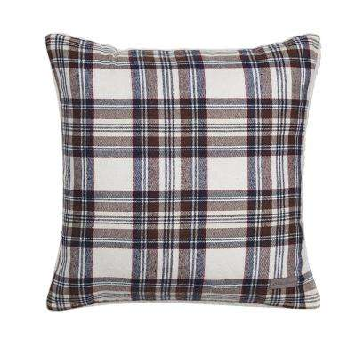 Edgewood 20 in. x 20 in. Red Square Pillow