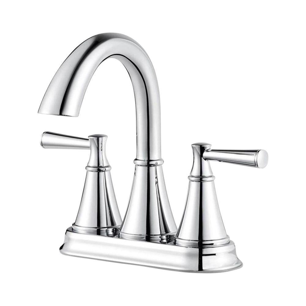 Pfister Cantara 4 in. Centerset 2-Handle Bathroom Faucet in Polished Chrome