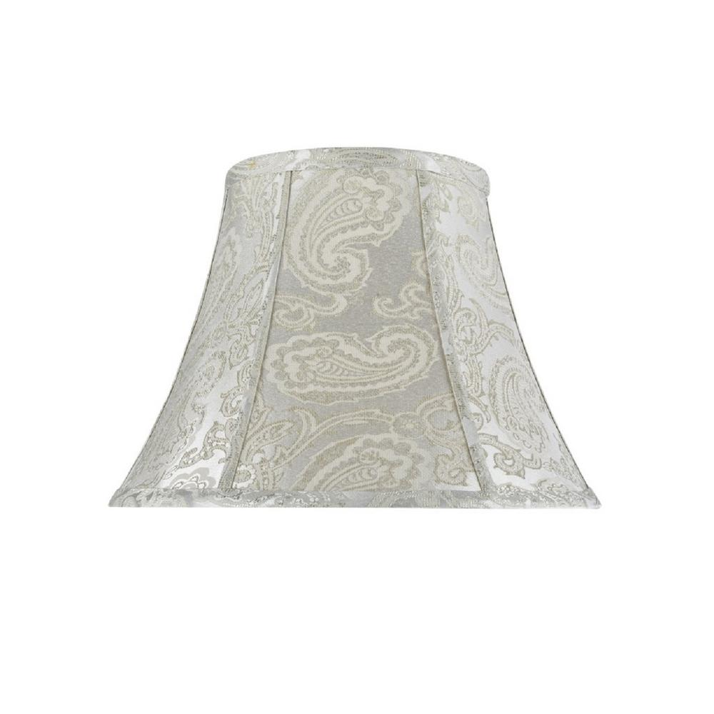 13 in. x 9.5 in. Classic Silver and Paisley Pattern Bell