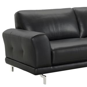 Awesome Armen Living Armen Living Genuine Black Leather Contemporary Uwap Interior Chair Design Uwaporg