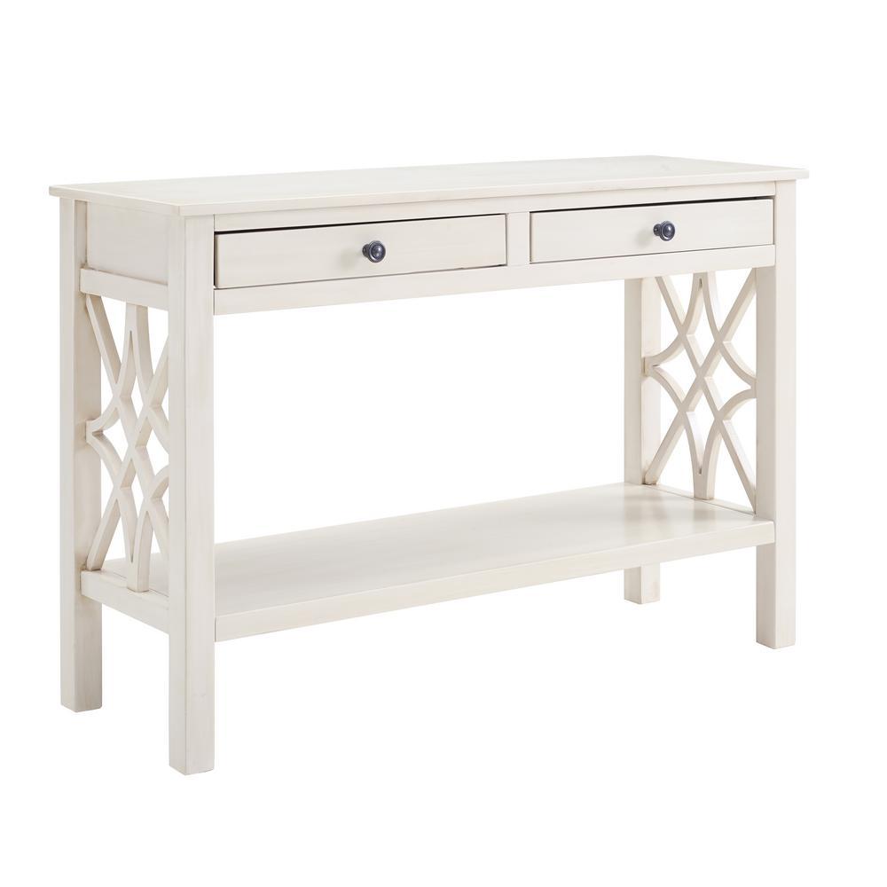 Sloane Antique White Console Table