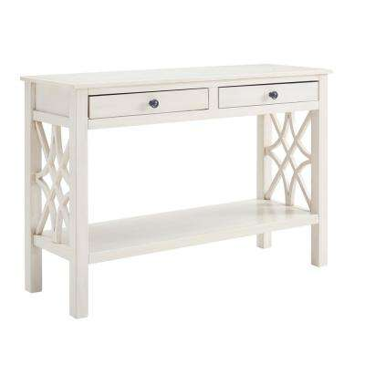 Sloane Antique White Console Table