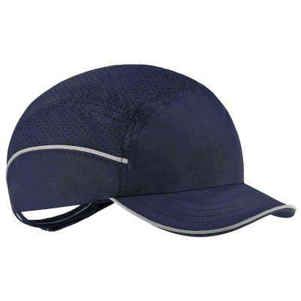 Skullerz 8955 Short Brim Navy Lightweight Bump Cap Hat