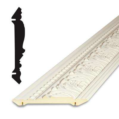 1 in. x 5-7/8 in. x 96 in. Primed Polyurethane Acanthus Crown Moulding