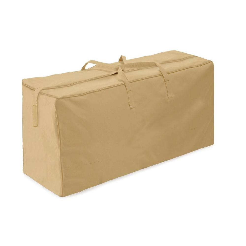Two Dogs Designs Khaki Patio Cushion Storage Bag 2d Pf48185 The Home Depot
