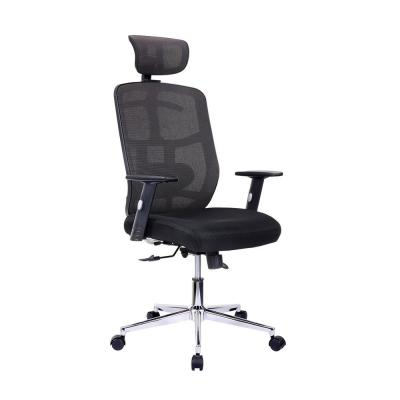 TechniMobili Black High Back Executive Mesh Office Chair with ArmsLumbar Support and Chrome Base