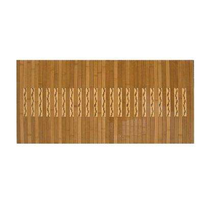 Light Brown 20 in. x 72 in. Bamboo Kitchen and Bath Mat