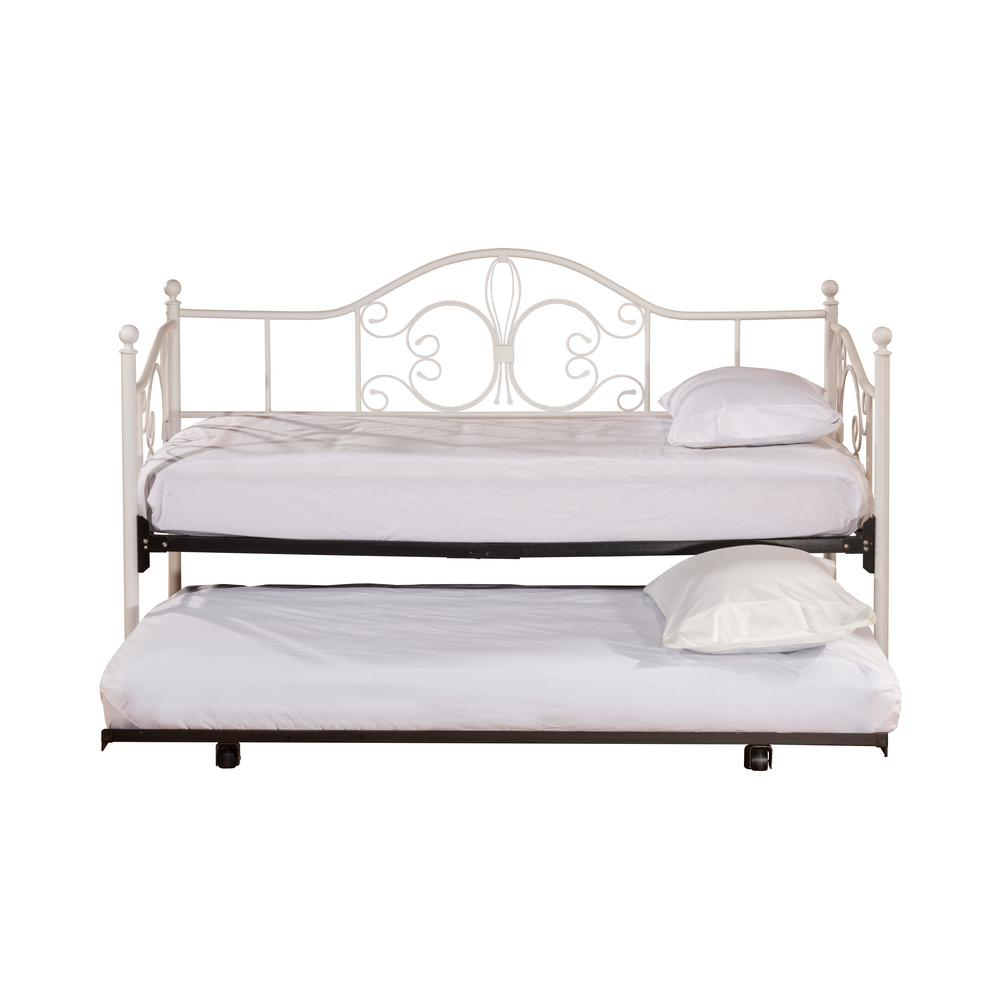 - Hillsdale Furniture Ruby Textured White Daybed With Suspension