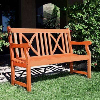 Eucalyptus Cross-Back Patio Bench