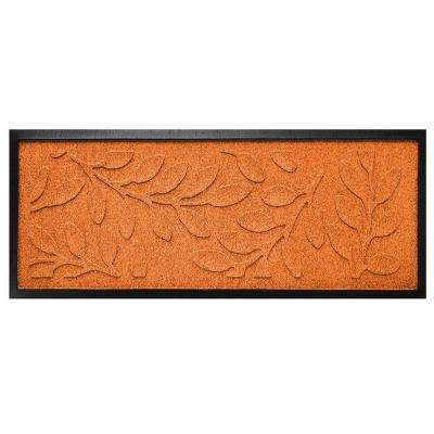 Orange 15 in. x 36 in. Brittany Leaf Boot Tray