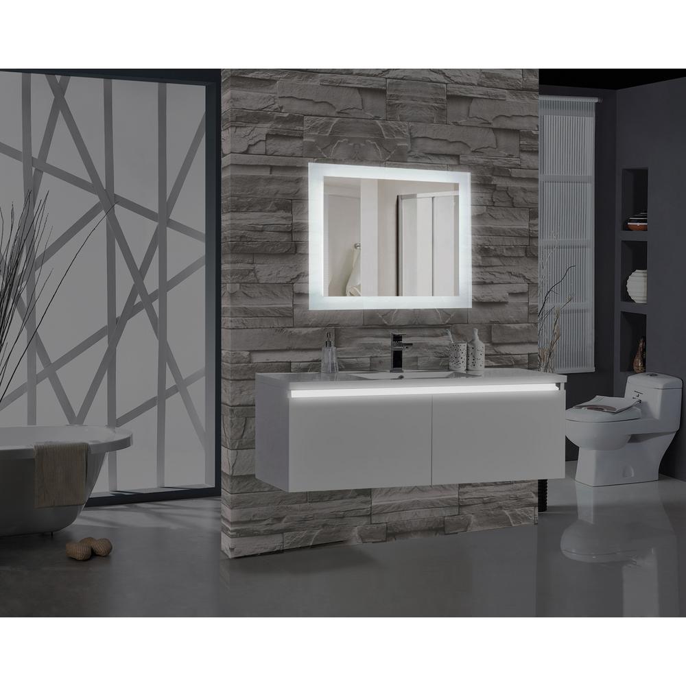 Encore 36 inch W x 27 inch H Rectangular LED Illuminated Bathroom Mirror by