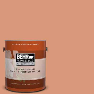Behr Premium Plus Ultra 1 Gal 400f 5 Promenade Hi Gloss Enamel Interior Paint And Primer In One 875401 The Home Depot