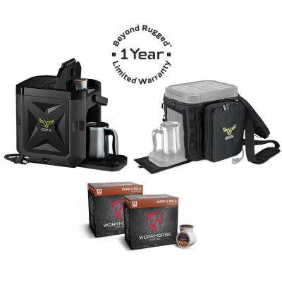 COFFEEBOXX Combo Kit Jobsite Single Serve Coffee Maker in Special Ops Black