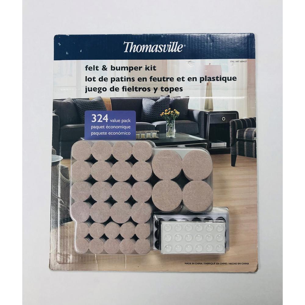 Felt Pads and Bumper Kit Value Pack (324-Piece)