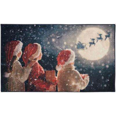 Christmas Magic Multi 2 ft. 6 in. x 4 ft. 2 in. Area Rug