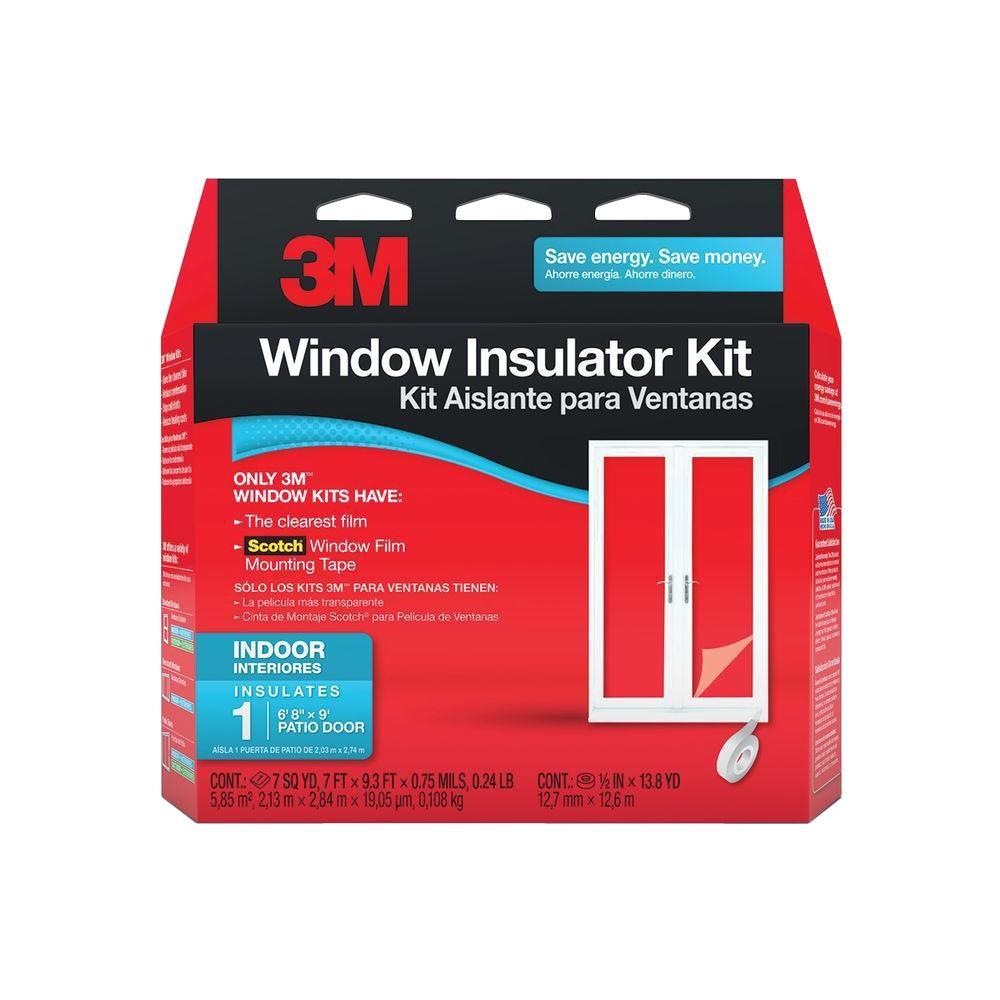 3M 84 inch x 112 inch Indoor Patio Door Window Insulator Kit by 3M
