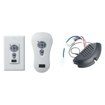 White Reversible Wall/Hand-Held Remote Control Kit