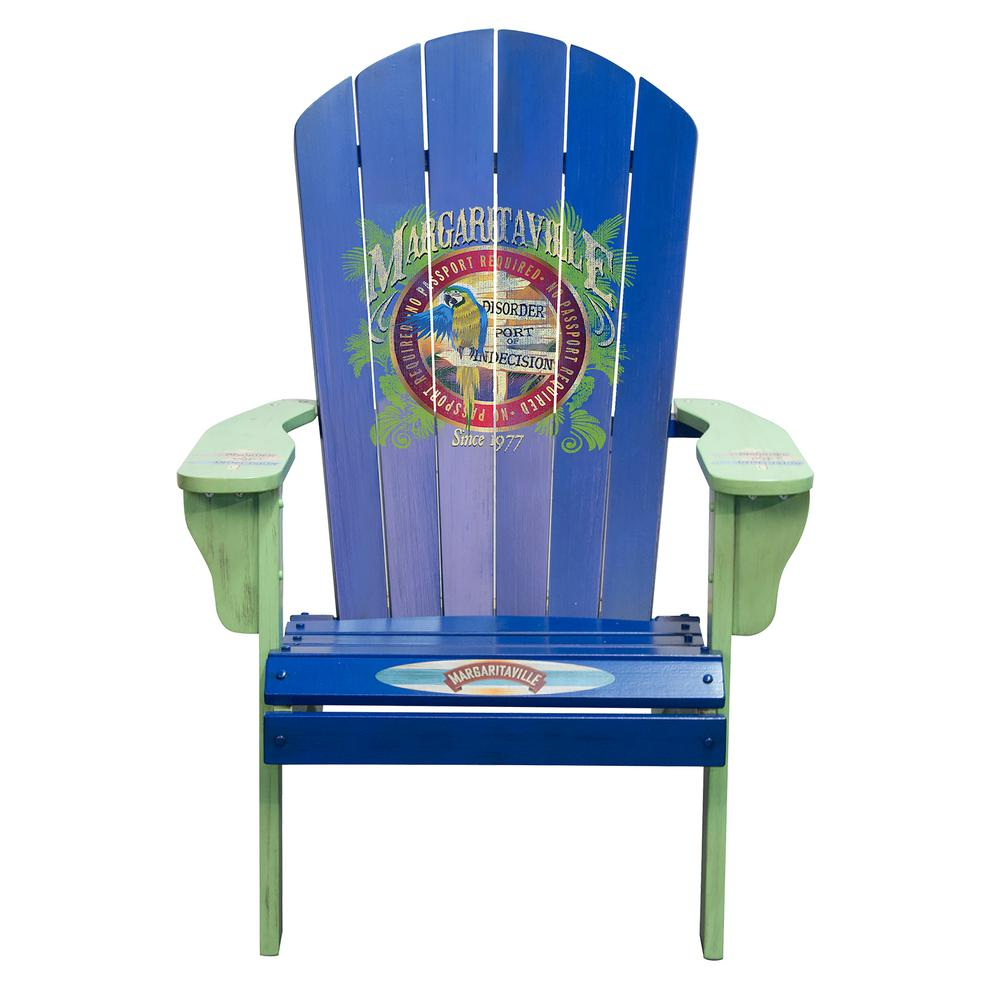 Margaritaville Port of Indecision Solid Wood Patio Adirondack Chair