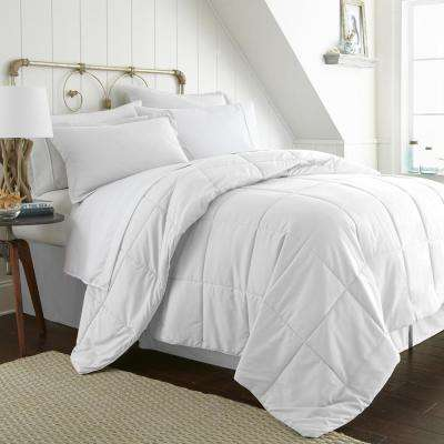 Bed In A Bag Performance White King 8-Piece Bedding Set