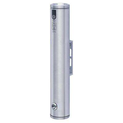3.25 in. W 19 in. H 3.25 in. D Silver Aluminum Wall Mounted Smokers Bollard