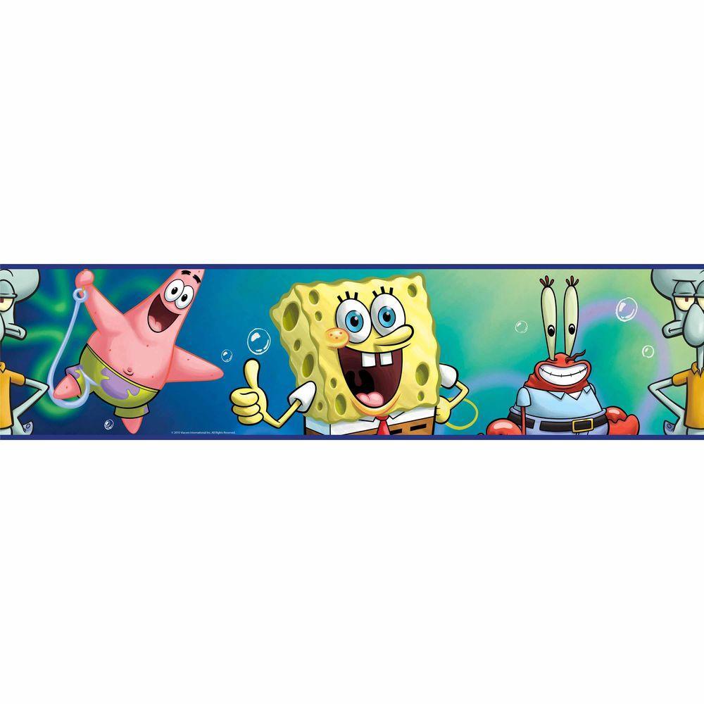 RoomMates Spongebob Squarepants Peel and Stick Wallpaper Border