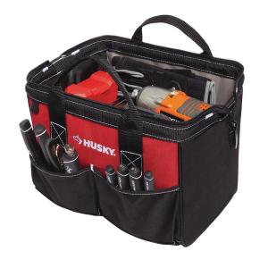 Husky 12 in. Tool Bag-82176N17 - The Home Depot