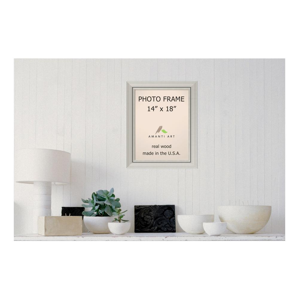Amanti Art Romano 14 in. x 18 in. Silver Picture Frame-DSW1385359 ...