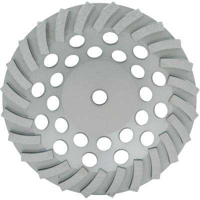 7 in. SegmentedTurbo Diamond Cup Wheel with 24 Segments and 5/8 in. -11 Nut
