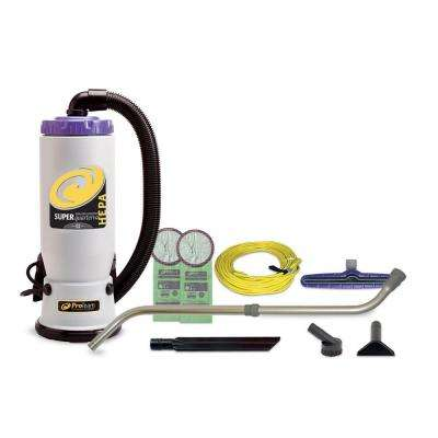 Super QuarterVac HEPA 6 Qt. Backpack Vac with Xover Multi-Surface Telescoping Wand Tool Kit