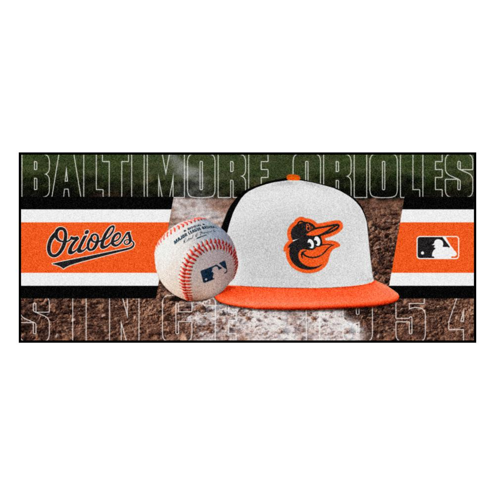 Baltimore Orioles 3 ft. x 6 ft. Baseball Runner Rug