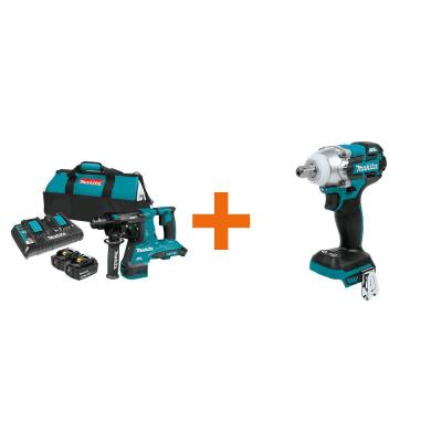 18-Volt X2 LXT 36-Volt 1-1/8 in. Brushless Rotary Hammer Kit 5.0 Ah with Bonus 18V LXT XPT 3-Speed 1/2 in. Impact Wrench