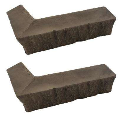 Stacked Stone 3-1/4 in. x 3-1/2 in. x 11-3/4 in. Kenai Faux Corner Ledger (2-Pack)