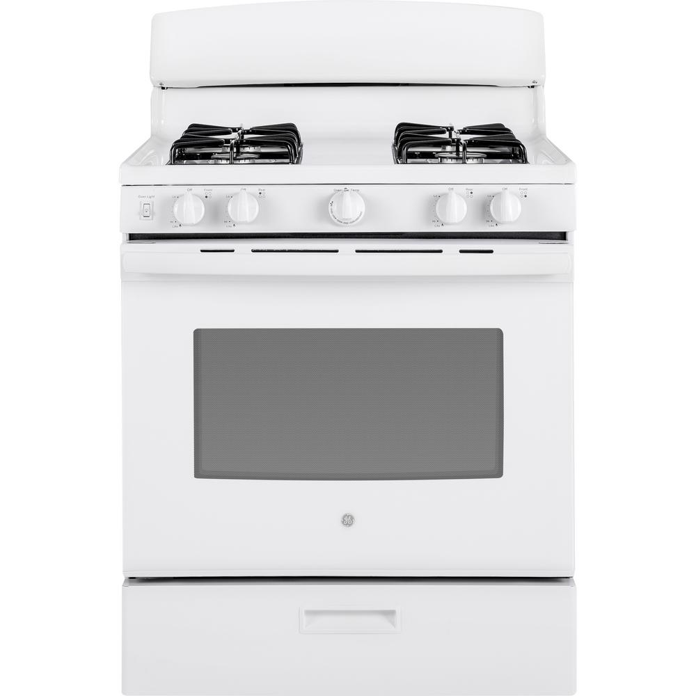Ge 4 8 Cu Ft Gas Range In White