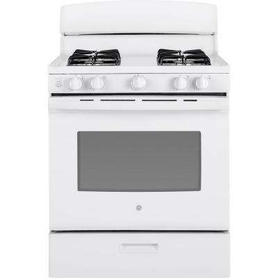 30 in. 4.8 cu. ft. Single Gas Range in White