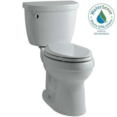 Cimarron 2-piece 1.28 GPF High Efficiency Elongated Toilet with AquaPiston Flushing Technology in Ice Gray