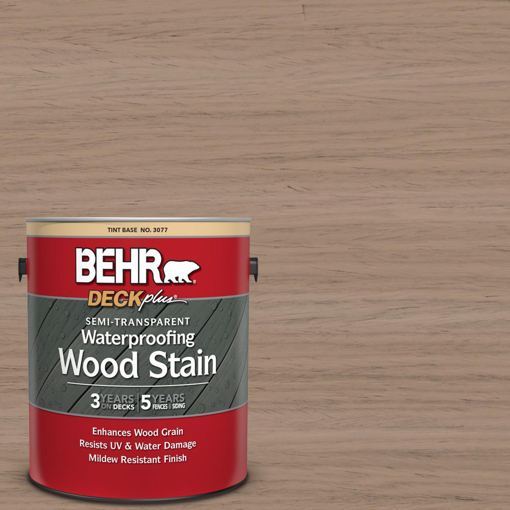 BEHR DECKplus 1 gal. #ST-160 Rose Beige Semi-Transparent Waterproofing Exterior Wood Stain