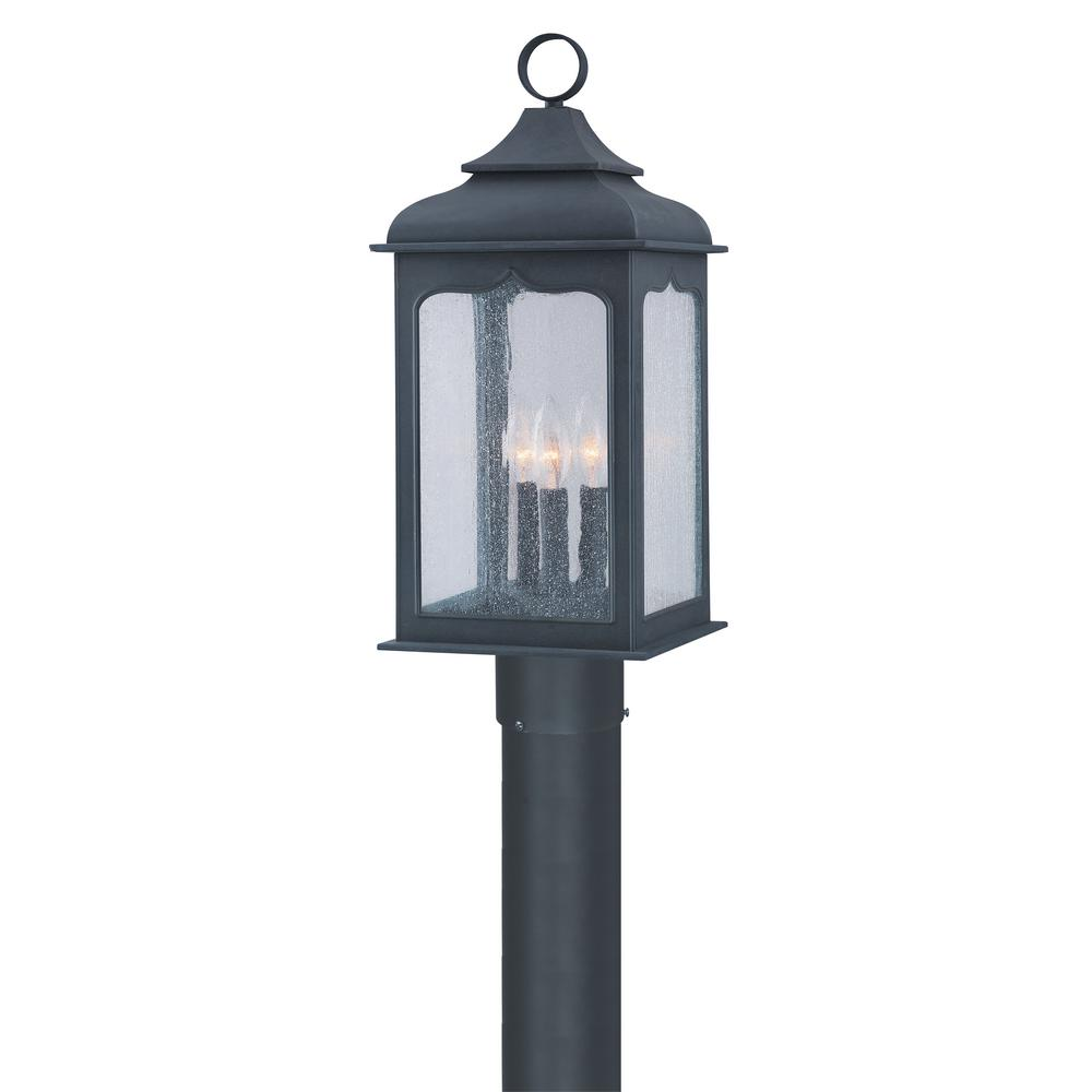 Troy Lighting Henry Street 3 Light Outdoor Colonial Iron Post