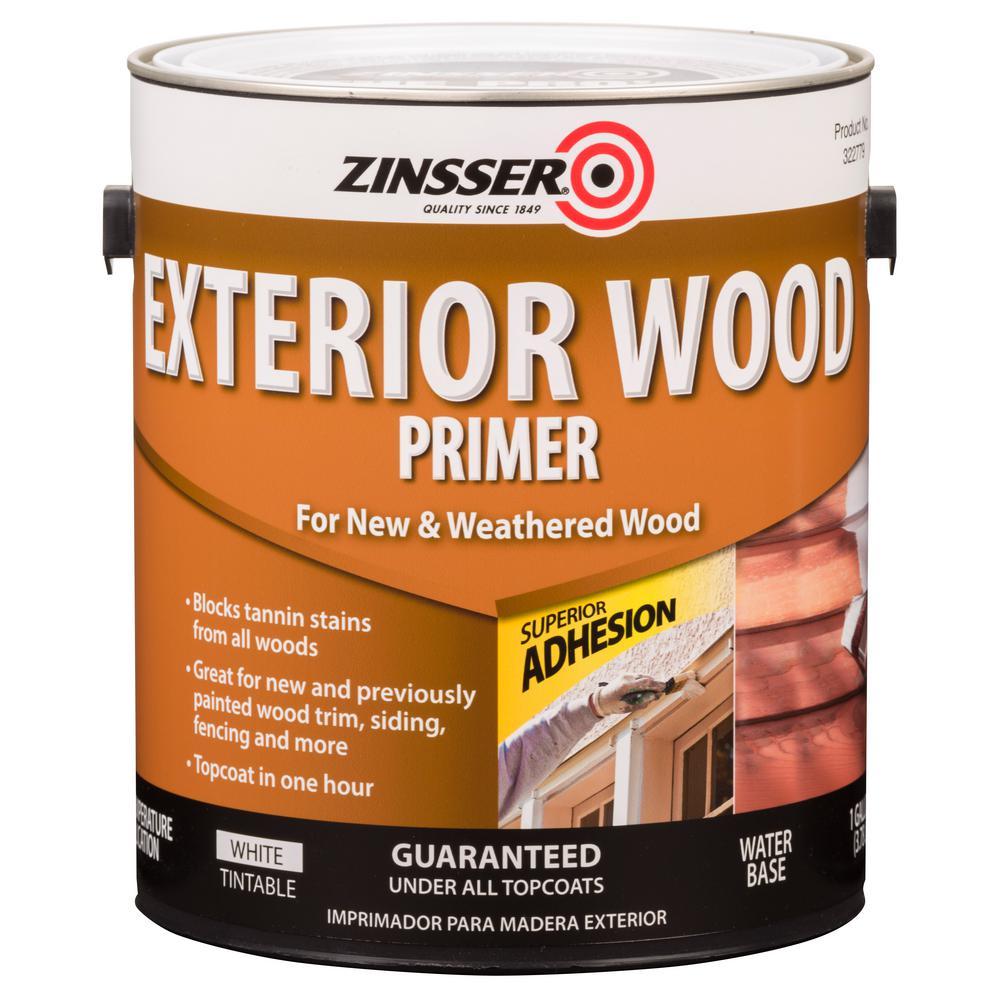 Zinsser 1 gal. White Water-Based Exterior Wood Primer