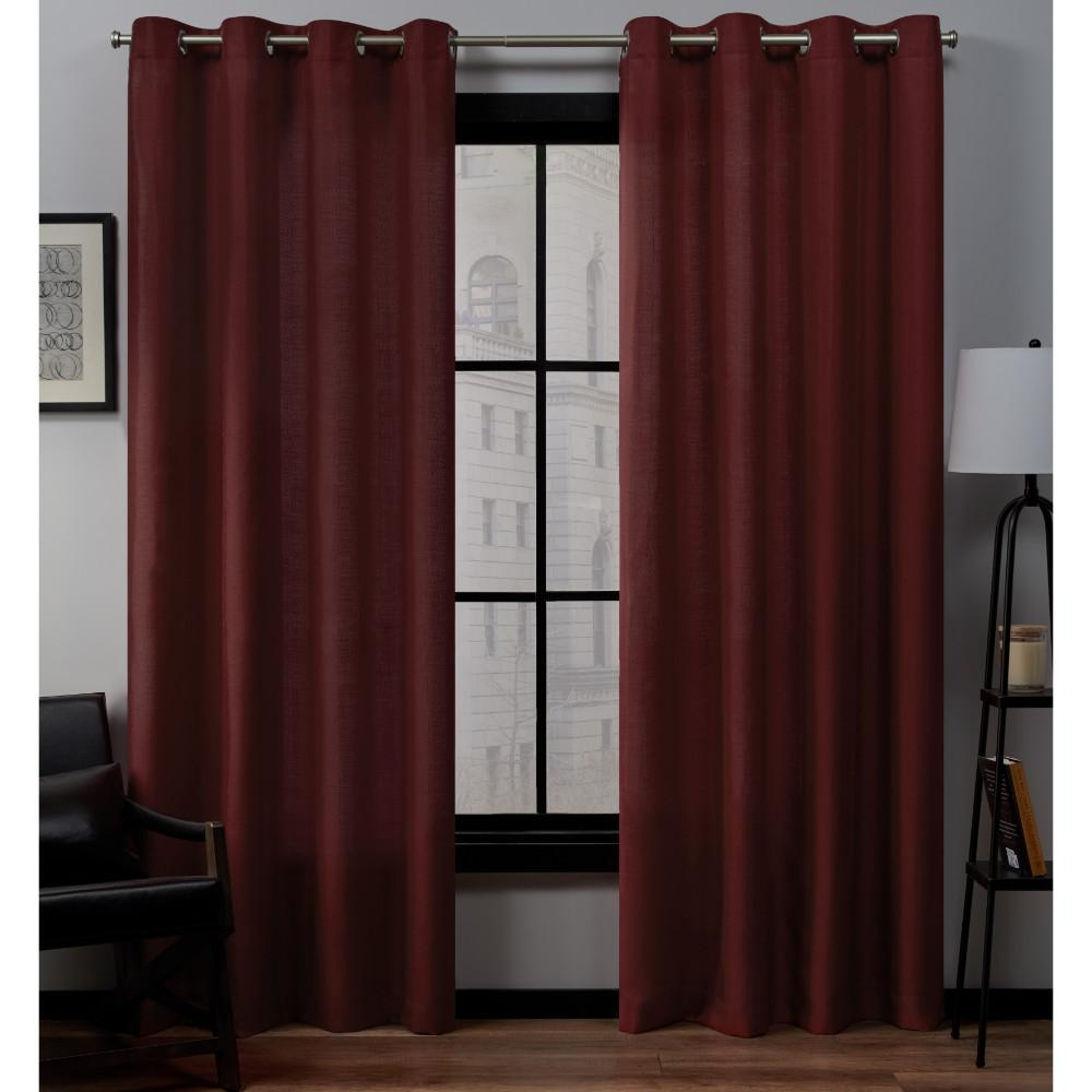 Exclusive Home Curtains Loha 54 In. W X 84 In. L Linen