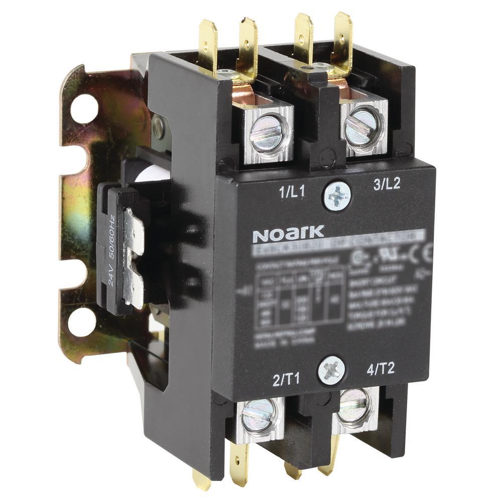 [DIAGRAM_38ZD]  Noark 40 Amp 2-Pole Definite Purpose Contactor-Ex9CK40A20T7 - The Home Depot | Definite Purpose Contactor Wiring Diagram |  | The Home Depot