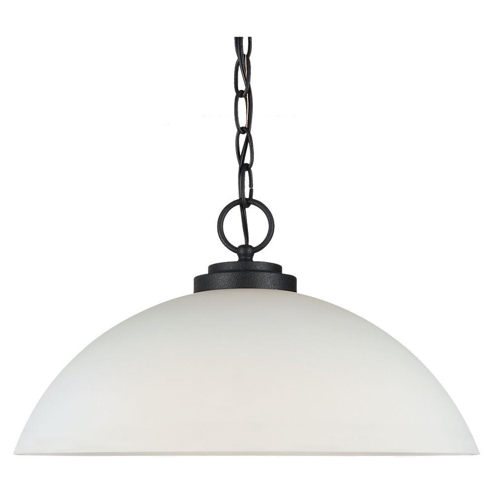 Sea Gull Lighting Oslo 1-Light Blacksmith Pendant