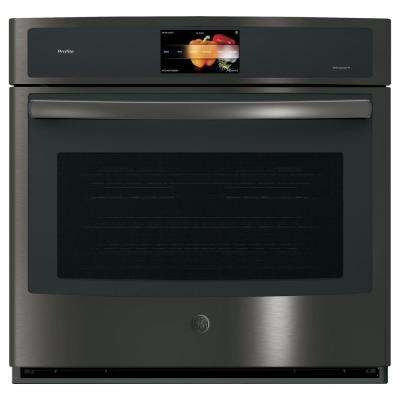 Profile 30 in. Single Electric Convection Wall Oven Self-Cleaning in Black Stainless Steel, Fingerprint Resistant
