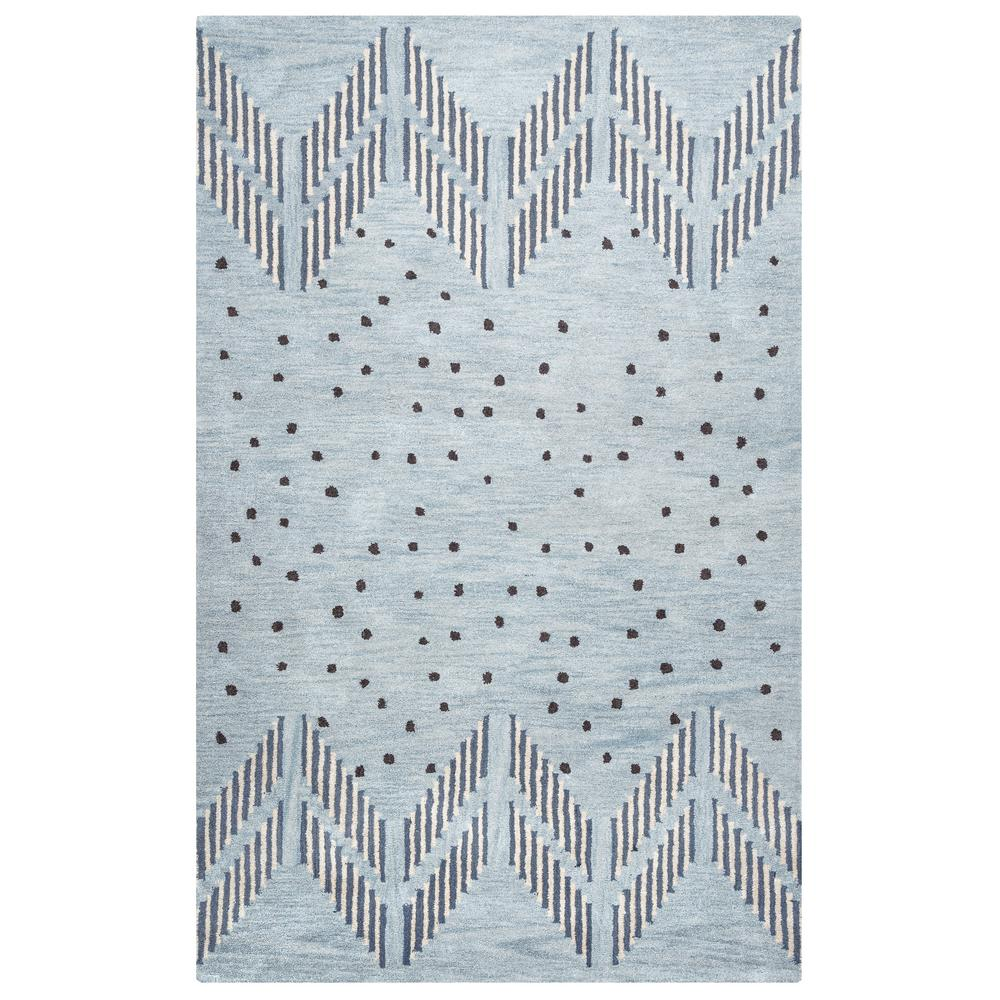 Rizzy Home Tumble Weed Loft Light Blue Southwestern Hand Tufted Wool 8 Ft X 10 Area Rug Tbltl924900430810 The Depot