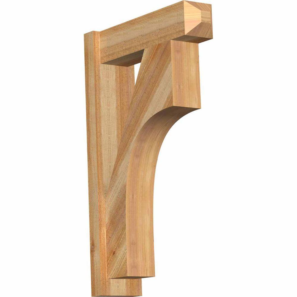 Ekena Millwork 6 In X 32 In X 20 In Western Red Cedar Westlake Craftsman Rough Sawn Outlooker Out06x20x32wtl04rwr The Home Depot