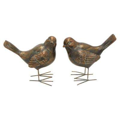 5.5 in. Bronze Bird Figurine (Set of 2)