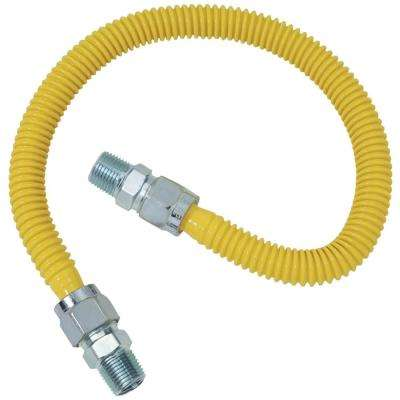 Gas Range and Gas Furnace Flex-Line (5/8 in. O.D. (1/2 in. MIP x 1/2 in. MIP) x 48 in.)